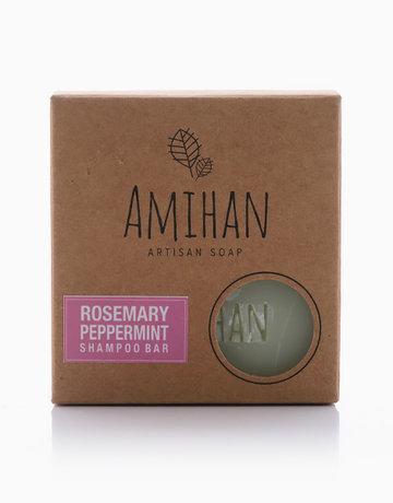 Rosemary and Peppermint Shampoo Bar Soap by Amihan Organics