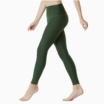 Yoga Pants High-Waist Tummy Control in Olive by Tesla in
