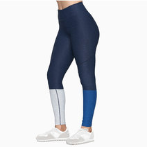 Cover dipped legging in navy dove deep sea