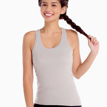 Power Tank in Light Gray by Uvit Activewear
