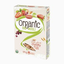 Musli organic bio musli (usda organic oat cereal) 375g redfruits