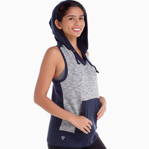 Miho Sleeveless Hoodie in Gray by Atsui