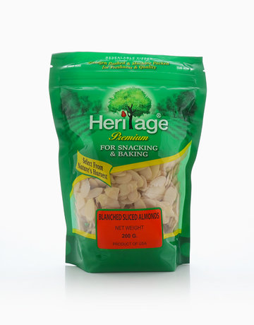 Blanched Sliced Almonds  (200g) by Heritage