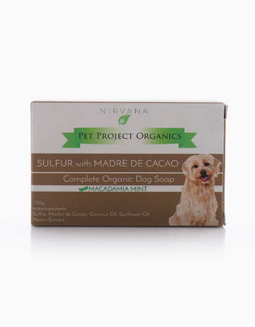 Organic Dog Soap: Sulfur with Madre de Cacao in Macadamia Mint by Pet Project Organics