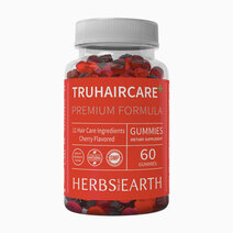 TruHairCare Hair Growth and Thickness Maximizer: Vegan Natural Hair Growth Vitamins (60 Cherry Flavored Gummies) by Herbs of the Earth in