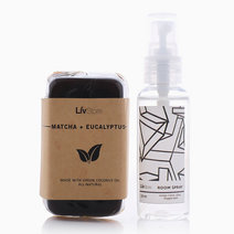LivStore Gift Pack by LivStore in #1 Matcha + Eucalyptus and Green Clove, Aloe & Peppermint Room Spray