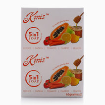 5 in 1 Soap (Pack of 2, 65g) by Kinis