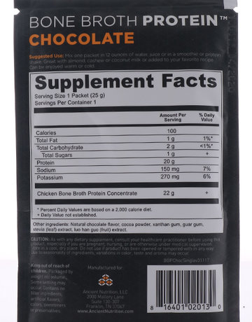 Bone Broth Protein (Chocolate) by Ancient Nutrition