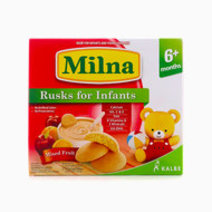 Milna Rusk for Infants, 12 Pieces (Mix Fruits) by Milna Baby Food