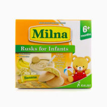 Milna Rusk for Infants, 12 Pieces (Banana) by Milna Baby Food