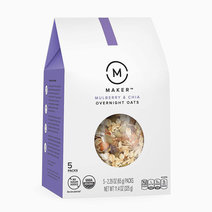 Overnight Oats, Mulberry & Chia, Organic, No Sugar Added (5 Single-Serve Pouches) by Maker Oats