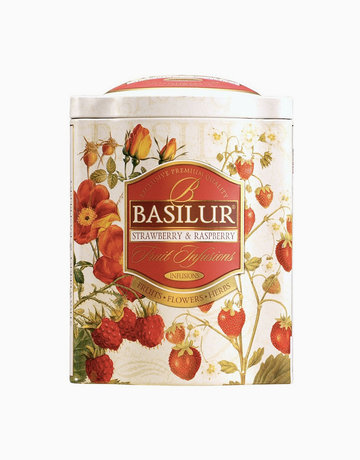 Strawberry & Raspberry Fruit Infusions Tea Caddy (100g) by Basilur