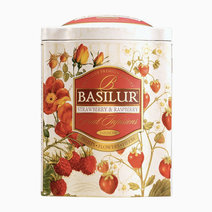 Basilur fruit infusions t.caddy strawberry   raspberry 100g