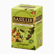 Basilur bouquet tea bag green freshness