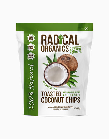 Original Flavor Organic Toasted Coconut Chips (80g) by Radical Organics