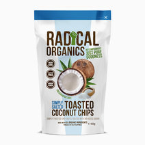 Radicalorganics 40g simply salted flavor organic toasted coconut chips