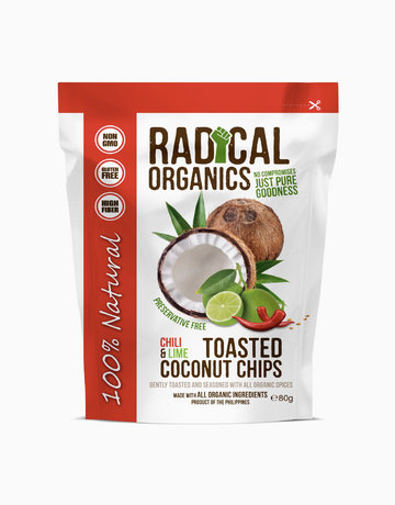 Chili & Lime Flavor Organic Toasted Coconut Chips (80g) by Radical Organics