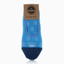 No Show Christmas Snowflakes Socks by Proppy in Blue (Sold Out - Select to Waitlist)