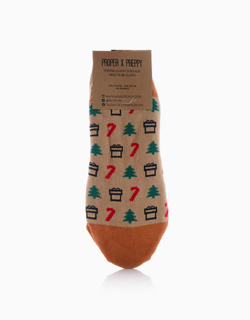 No Show Christmas Candy Cane Socks by Proppy