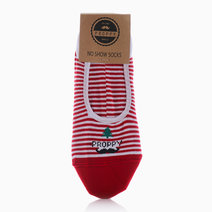 No Show Christmas Lines Socks by Proppy in Red (Sold Out - Select to Waitlist)