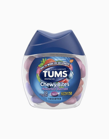 TUMS Chewy Bites Assorted Berries Antacid, Hard Shell Chews for Heartburn Relief  by Tums