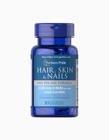 Hair, Skin & Nails One Per Day Formula (30 Softgels) by Puritan's Pride