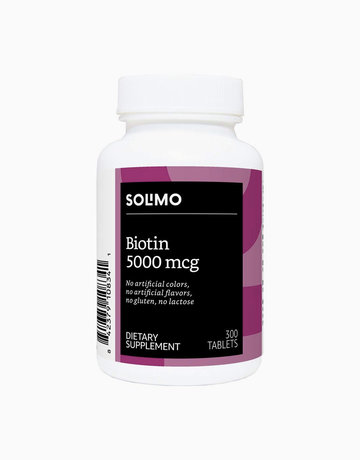 Biotin 5000mcg (300 Tabs - 10 Month Supply) by Solimo