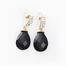 Oval Gem Earrings by Luxe Studio