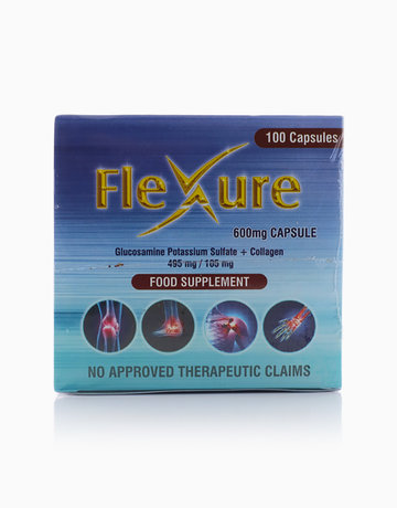 Flexure Glucosamine Potassium Sulfate + Collagen 600mg (Box of 100 Capsules) by Flexure