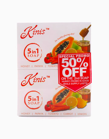 5 in 1 Soap 135g (Buy 2, Save 50% on 2nd Soap) by Kinis