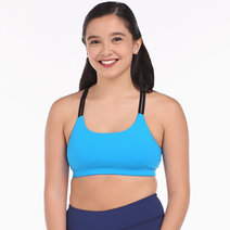 Double Strap Bandage Bra– in Blue by Meraki Sports