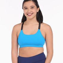 Double Strap Bandage Bra– in Blue by Meraki Sports