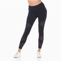 Zobha Crew Bandage Legging in Black by Aura Athletica