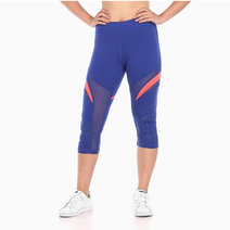 Zobha Zaire Colorblock Mesh Capri in Mazarine Blue by Aura Athletica