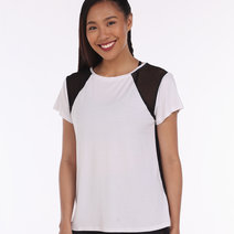 Morgan Tee in Black and White Mesh by 3Boro Active