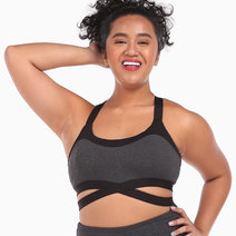 Emilie Charcoal Gray Push Up Sports Bra by Andi Activewear