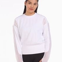 Alo Yoga Formation Long Sleeve Top in White by Aura Athletica