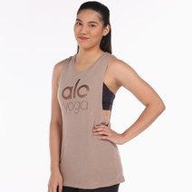 Alo Yoga Wanderlust Muscle Tank in Gravel by Aura Athletica