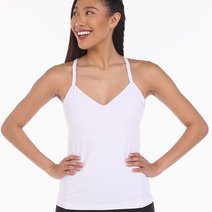 Alo Yoga Becca Bra Tank in White by Aura Athletica