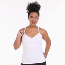 Alo Yoga Becca Bra Tank in White by Aura Athletica