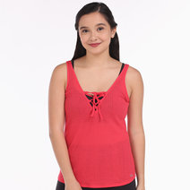 Alo Yoga Interlace Tank in Rich Peony by Aura Athletica