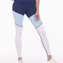 Tri-Colored Leggings Tights in Blue/Light Blue/ White by Meraki Sports