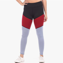 Tri-Colored Leggings Tights in Black/Red/Purple by Meraki Sports