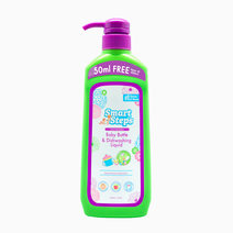 Baby Bottle and Dishwashing Liquid 350+50ml Free - Bottle with Pump by Smart Steps in