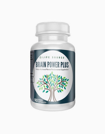 Brain Power Plus Nootropics Best Brain Booster Vitamin Supplement by Life Source