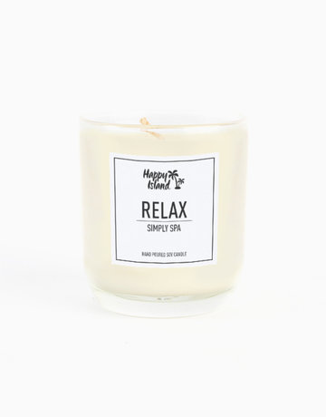 Relax Scented Soy Candle (8oz) by Happy Island