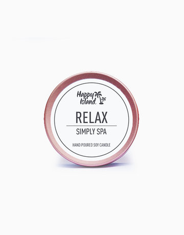 Relax Scented Soy Candle (2oz) by Happy Island