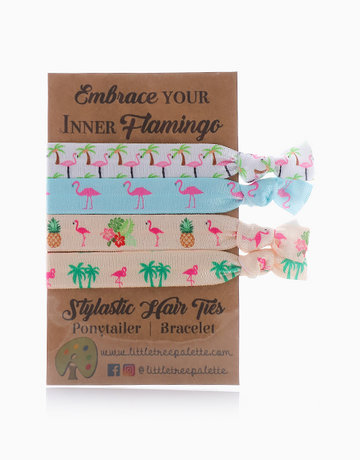 Flamingo Frenzy Hair Ties by Little Tree Palette