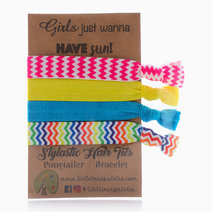 Summer Chevron Hair Ties by Little Tree Palette