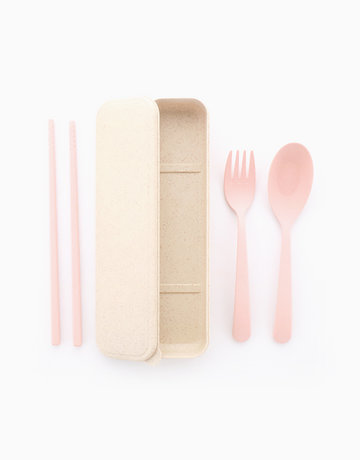 Wheat Utensils in Pink by Ecoholics MNL